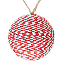 Buy John Lewis Chamonix Candycane Twine Bauble, Red / White Online at johnlewis.com
