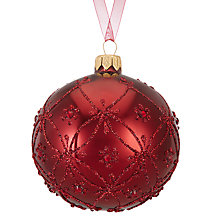 Buy John Lewis Ruskin House Classic Trellis Bauble, Burgundy Online at johnlewis.com