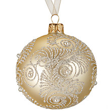 Buy John Lewis Ostravia Swirl With Pearls Bauble, Cream Online at johnlewis.com