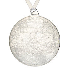 Buy John Lewis Snowshill Spun Glass Bauble Online at johnlewis.com