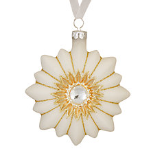 Buy John Lewis Ostravia Flower Bauble, Cream / Gold Online at johnlewis.com