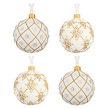 Buy John Lewis Ruskin House Jewelled Bauble, Set of 4 Online at johnlewis.com