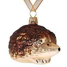 Buy John Lewis Ruskin House Glittered Hedgehog Bauble Online at johnlewis.com
