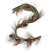 Buy John Lewis Ruskin House Frosted Giant Pine Cone Garland Online at johnlewis.com