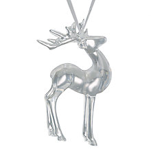 Buy John Lewis Snowshill Reindeer Tree Decoration, Clear Online at johnlewis.com