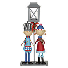 Buy John Lewis Grand Tour Carol Singers Tealight Lantern Online at johnlewis.com