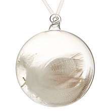 Buy John Lewis Snowshill Bauble With Feathers, Clear Online at johnlewis.com