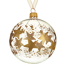 Buy John Lewis Helsinki Gold Star Bauble, Clear Online at johnlewis.com
