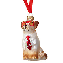 Buy John Lewis Cool Dog Bauble Online at johnlewis.com