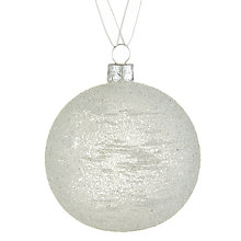 Buy John Lewis Snowshill Sugared Bauble, Clear Online at johnlewis.com