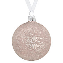 Buy John Lewis Helsinki Frosted Bauble, Blush Online at johnlewis.com