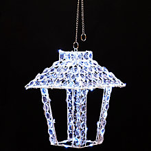 Buy John Lewis 80 LED Crystal Lantern, Random Twinkle, Cool White Online at johnlewis.com