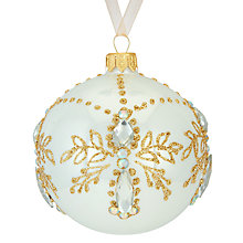 Buy John Lewis Ostravia Gem Bauble, Cream Online at johnlewis.com
