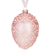 Buy John Lewis Ostravia Faberge Egg Bauble, Pink Online at johnlewis.com
