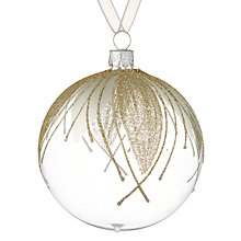 Buy John Lewis Ostravia Glitter Petal Bauble, Clear Online at johnlewis.com