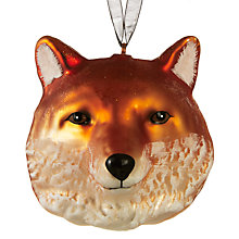 Buy John Lewis Ruskin House Fox Head Bauble Online at johnlewis.com