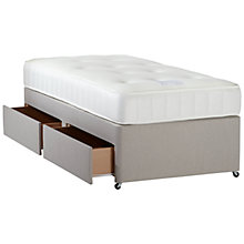 Buy John Lewis 1000 Pocket Spring Memory Foam Divan Base and Mattress Set, Single Online at johnlewis.com