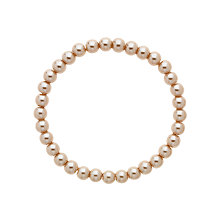 Buy Finesse Faux Pearl Stretch Bracelet, Bronze Online at johnlewis.com