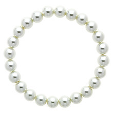 Buy Finesse Glass Faux Pearl Stretch Bracelet Online at johnlewis.com
