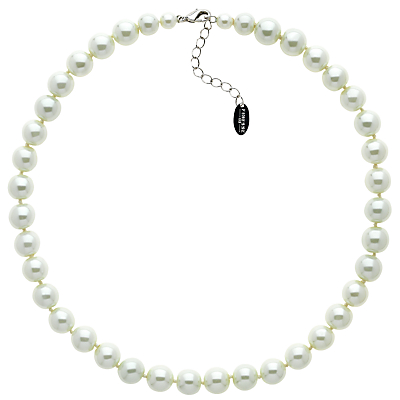 Finesse Faux Glass Pearl Necklace, Nacre