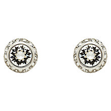 Buy Finesse Crystal Pave Edge Stud Earrings, Silver Online at johnlewis.com