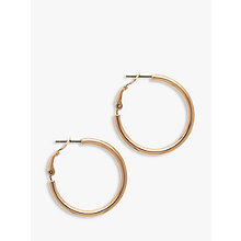 Buy Melissa Odabash Medium Hoop Earrings, Rose Gold Online at johnlewis.com