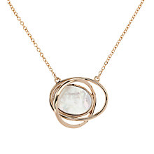 Buy Karen Millen Rhythmic Oval Mother of Pearl Pendant Necklace Online at johnlewis.com