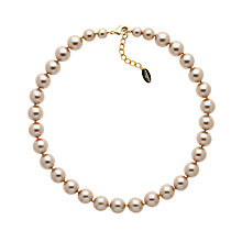 Buy Finesse Faux Pearl Necklace, Bronze Online at johnlewis.com