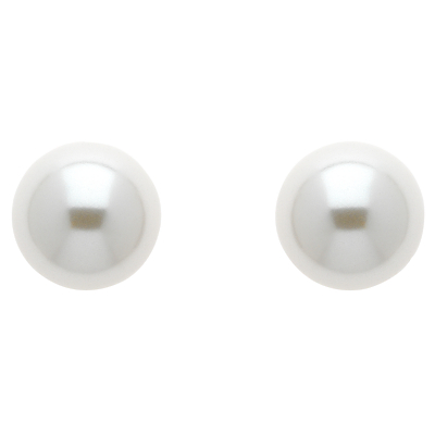 Finesse Glass Faux Pearl Stud Earrings, Pink