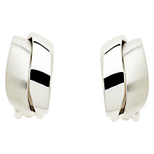 Buy Finesse Large Wave Clip-On Earrings, Silver Online at johnlewis.com