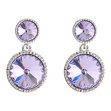 Buy Ted Baker Ronda Crystal Drop Earrings, Silver/Violet Online at johnlewis.com