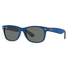 Buy Ray-Ban RB2132 New Wayfarer Sunglasses, Cobalt Online at johnlewis.com