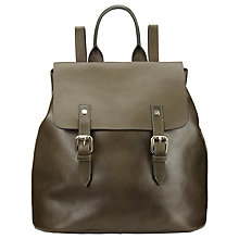 Buy Somerset by Alice Temperley Hurst Leather Backpack, Olive Online at johnlewis.com