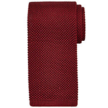 Buy Chester by Chester Barrie Knitted Silk Tie, Wine Online at johnlewis.com