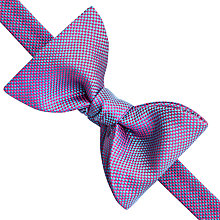 Buy Thomas Pink Cooper Texture Silk Bow Tie, Turquoise/Pink Online at johnlewis.com