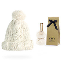 Buy Stitch & Story Big Alps Beanie Kit, Ivory White Online at johnlewis.com