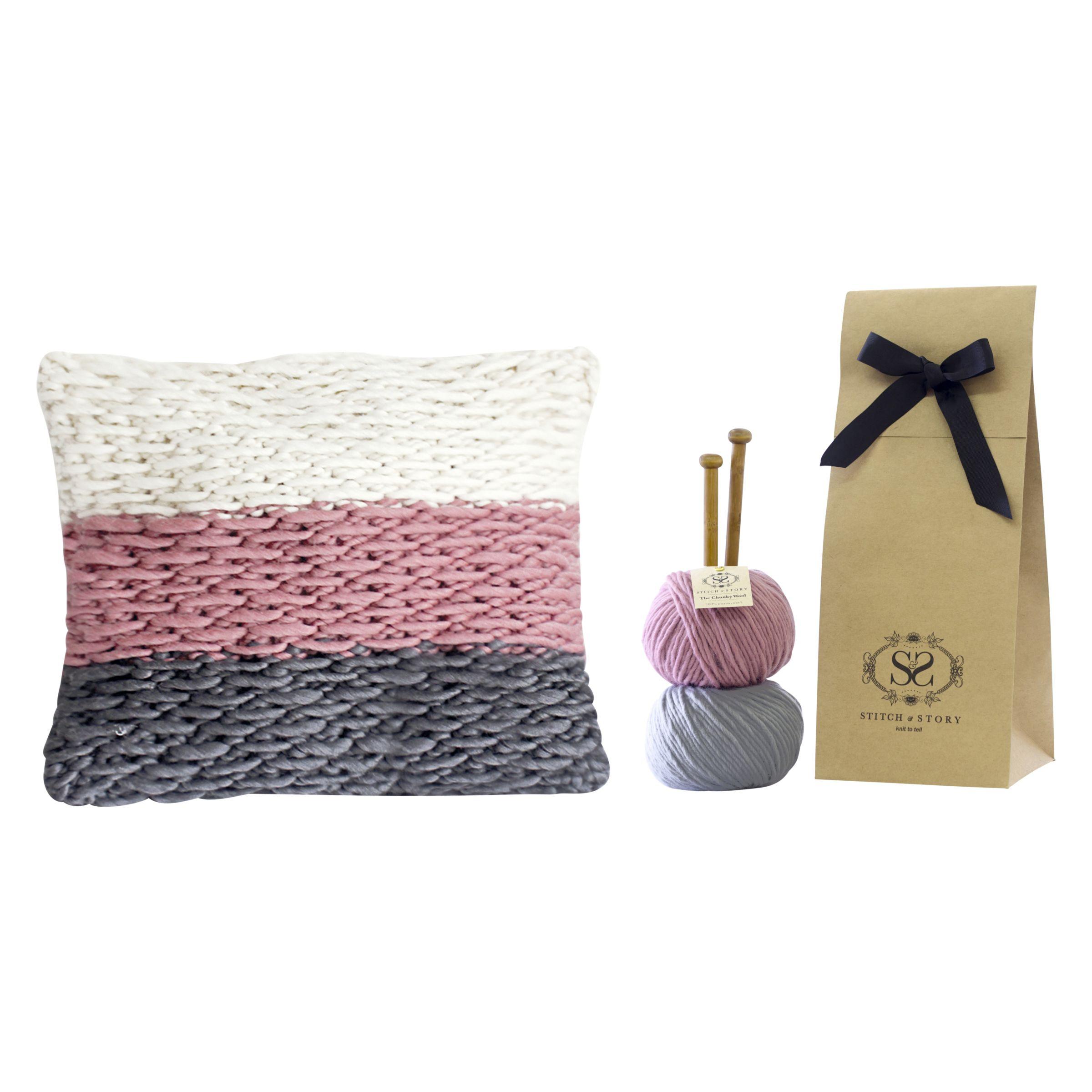 Buy Stitch & Story Staman Cushion Knitting Kit John Lewis