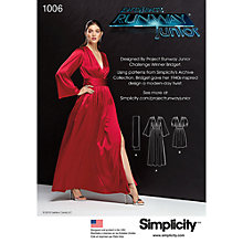 Buy Simplicity Women's Vintage Dress Sewing Pattern, 1006 Online at johnlewis.com