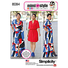 Buy Simplicity Women's Plus Size Dresses Sewing Pattern, 8084 Online at johnlewis.com