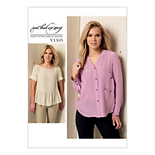 Buy Vogue Women's Tops Sewing Pattern, 1503 Online at johnlewis.com