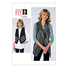 Buy Vogue Women's Vest Sewing Pattern, 1504 Online at johnlewis.com