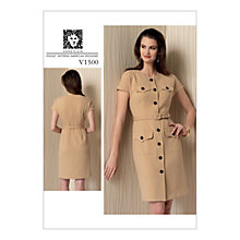 Buy Vogue Misses' Women's Shirt Dress Sewing Pattern, 1500 Online at johnlewis.com