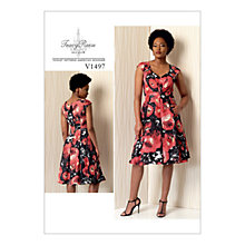 Buy Vogue Women's Misses' Pleated Dress Sewing Pattern, 1497 Online at johnlewis.com