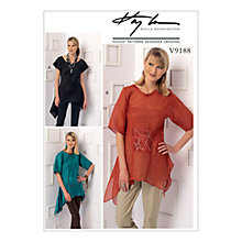 Buy Vogue Misses' Handkerchief Hem Top Sewing Pattern, 9188 Online at johnlewis.com