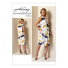 Buy Vogue Misses Women's Mock Tuck Pleat Dress Sewing Pattern, 1501 Online at johnlewis.com