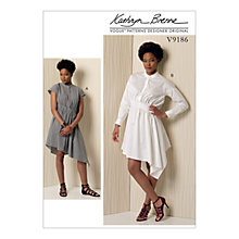 Buy Vogue Misses' Women's Stand Up Collar Dress Sewing Pattern, 9186 Online at johnlewis.com