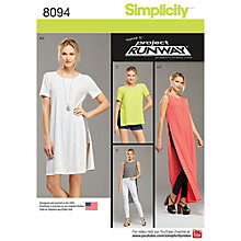 Buy Simplicity Women's Tunic Sewing Pattern, 8094 Online at johnlewis.com