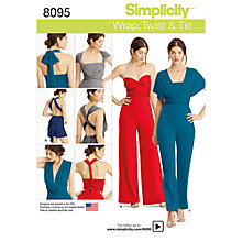 Buy Simplicity Women's Jumpsuit Sewing Pattern, 8095, A Online at johnlewis.com