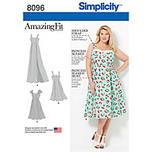 Buy Simplicity Women's Plus Size Dress Sewing Pattern, 8096, FF Online at johnlewis.com