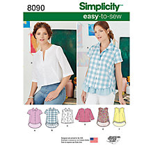 Buy Simplicity Women's Easy To Sew Knit Top Sewing Pattern, 8090 Online at johnlewis.com